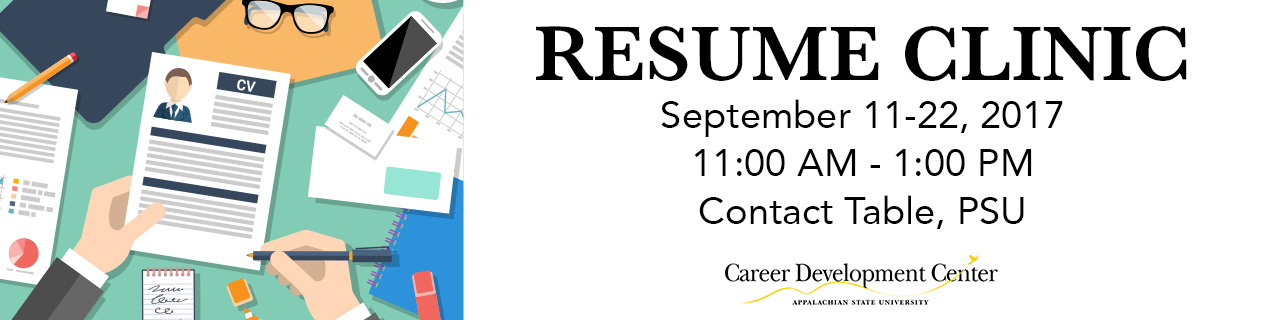 resume clinic career development center